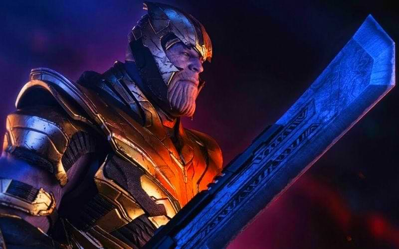 What is Thanos sword made of